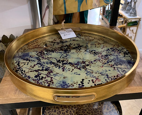 Round Blossom Effect Tray