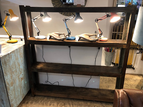 Distressed Indian Teak Shelving Unit