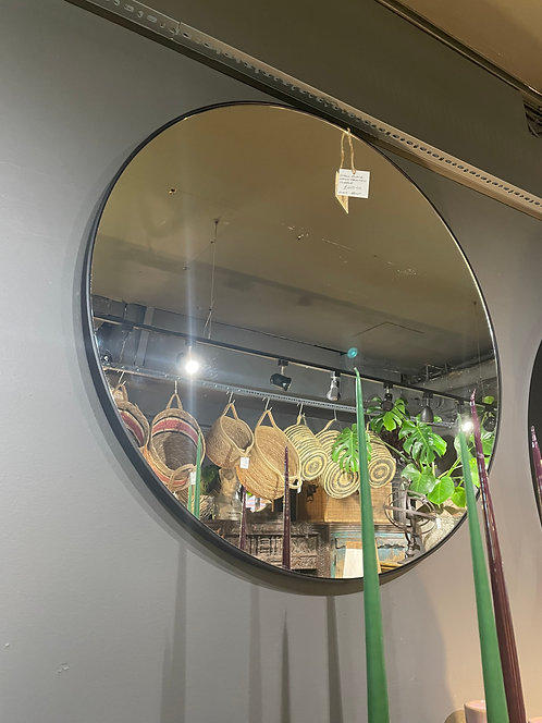 Small Black Wood Framed Mirror