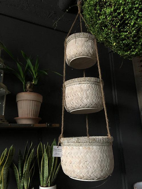 Bamboo Hanging 3 - Tier Planter