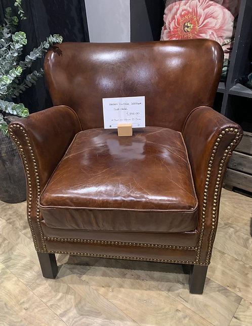 Brown Vintage Leather Club Chair