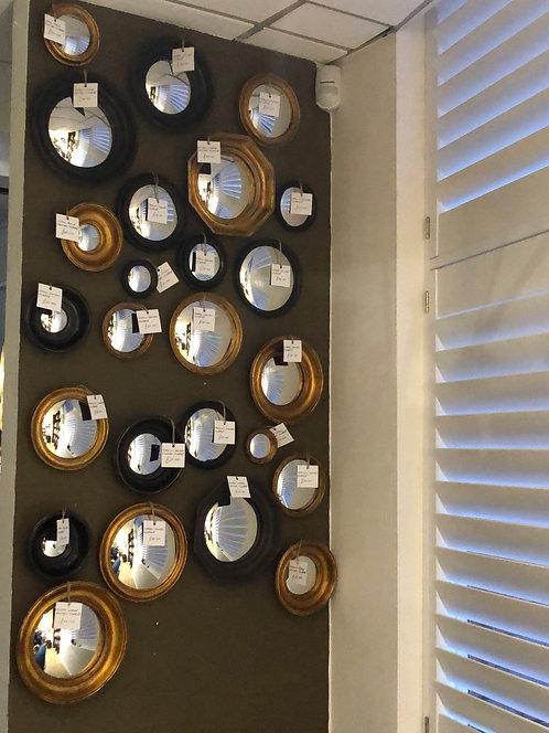 Gold Convex Mirrors