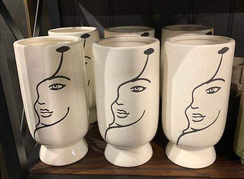 Tall Face Vase