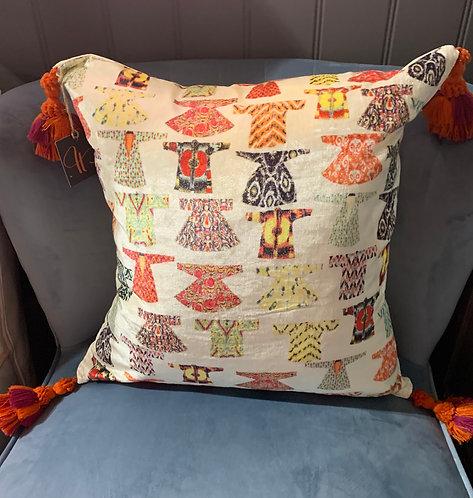 Kimono Tassel Cushion