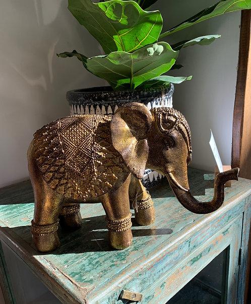 Gold Elephant Statue