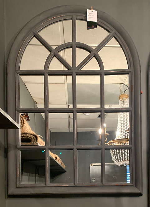 Small Grey Arch Mirror
