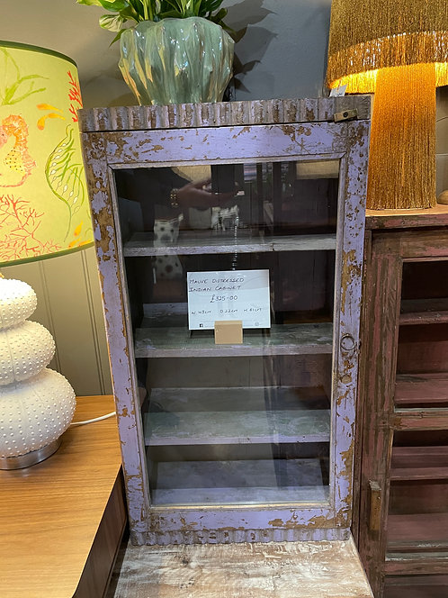 Mauve Distressed Indian Cabinet