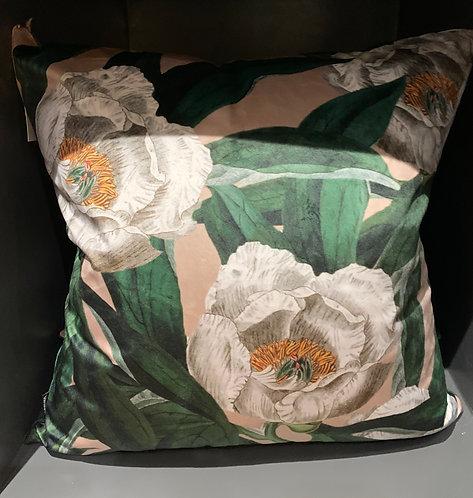 Velvet Tree Peony Cushion