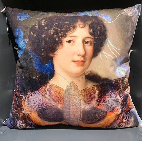 Madam Butterfly Velvet Cushion