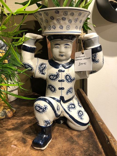 Kneeling Ceramic Soldier