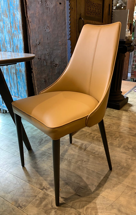 Ochre / Tan Faux Leather Dining / Occasional Chair
