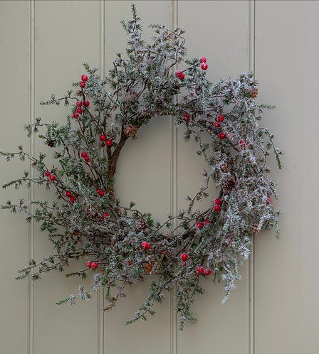 Faux Red Berry Christmas Wreath