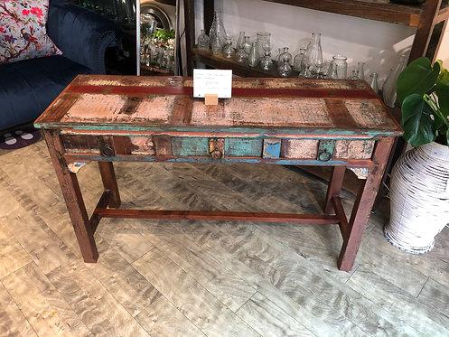 Indian Teak Natural / Green Desk