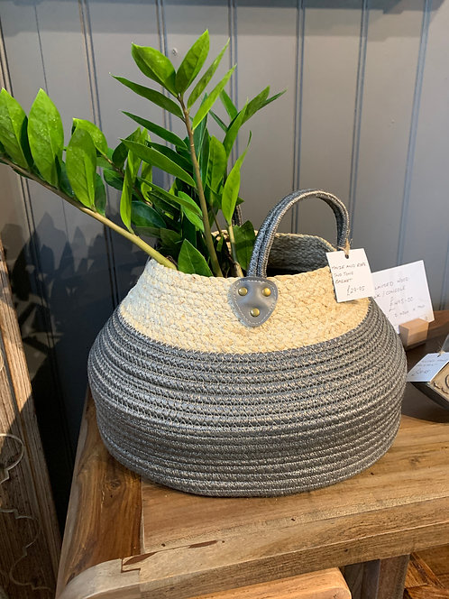Maize and Rope Two-tone Basket