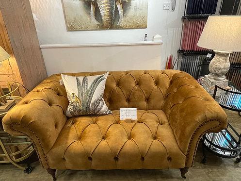 Gold Velvet Chesterfield Sofa