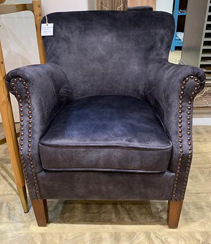 Charcoal Velvet Armchair