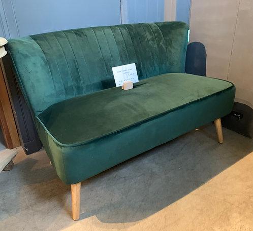 Forest Green Velvet Love Seat