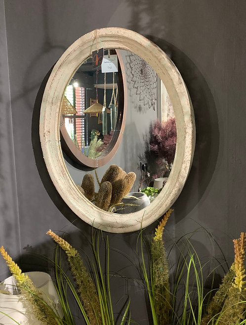 Oval Rustic Mirror