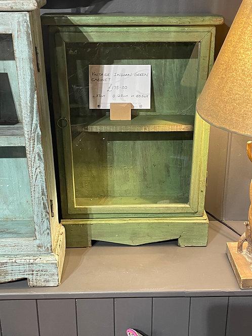 Vintage Indian Green Cabinet
