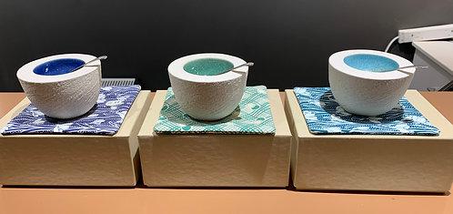 Handmade Ceramic Salt / Pepper Pots by Rhian Winslade