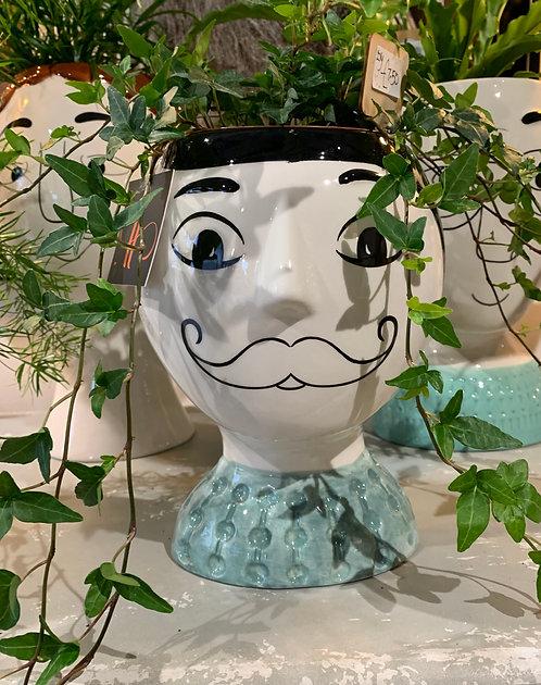 Mr Moustache Doodle Pot