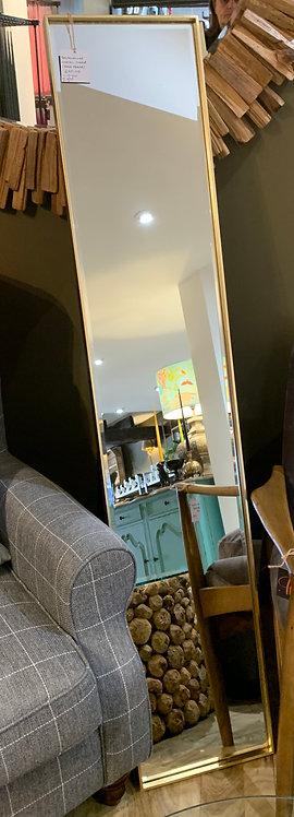 Gold Rectangular Cheval Floor-Standing Mirror