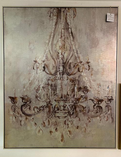 Metallic Chandelier Canvas