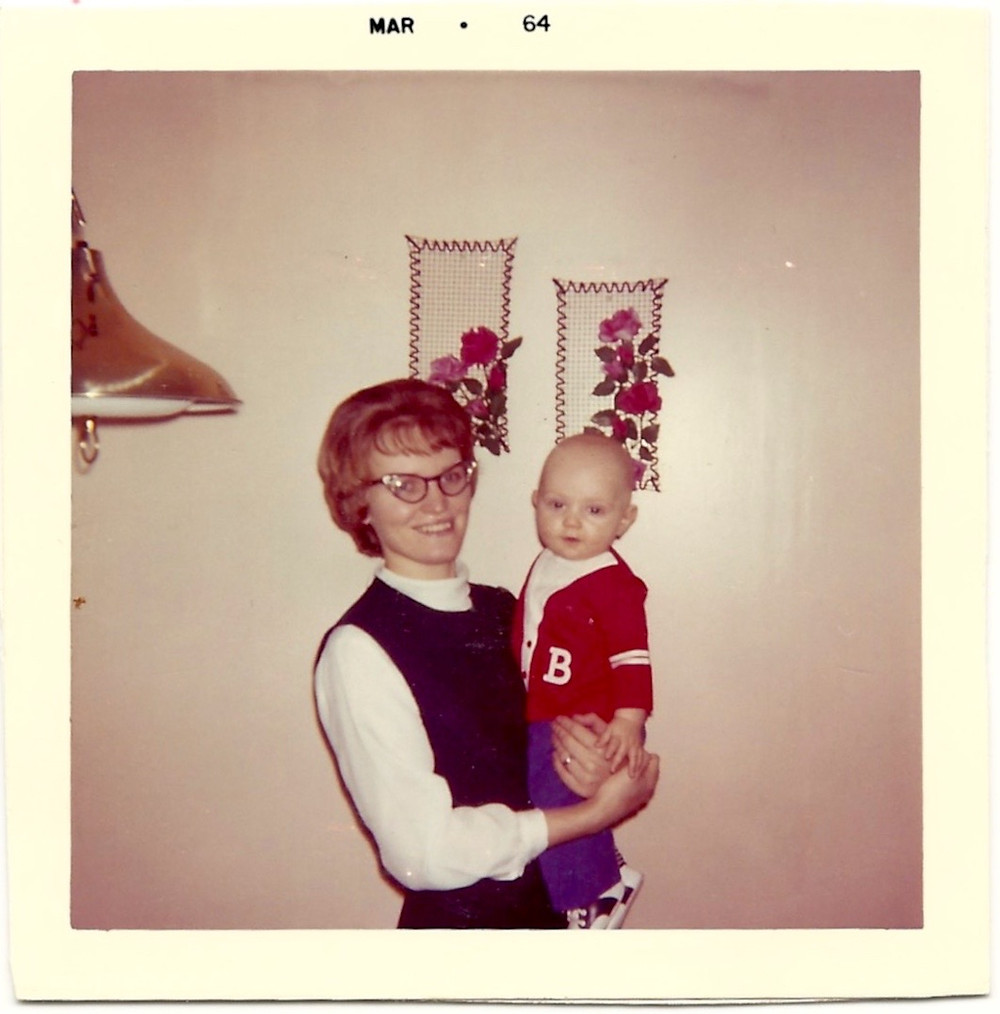 1964 the author as a baby held by his mother