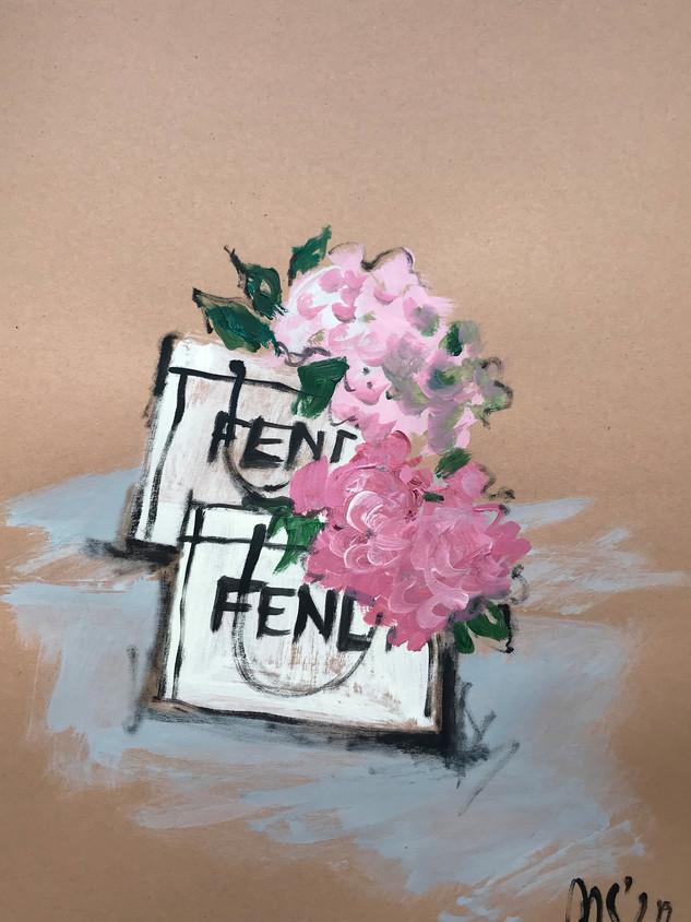 Flowers in Fendi