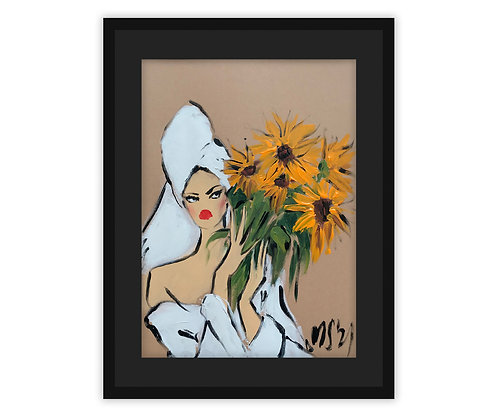 """""""Girl with sunflowers"""", 2021"""