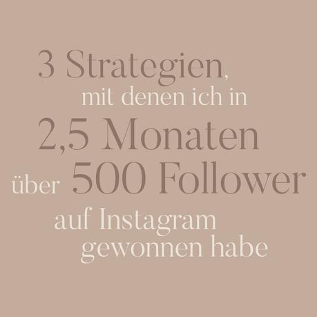 Wie ich in 2,5 Monaten über 500 Follower auf Instagram gewonnen habe