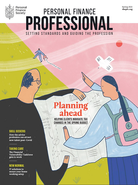 personal finance professional spring 2021 cover illustration sarah wilson swillistrations
