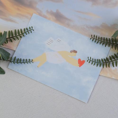 A5 Blue Cupid Valentine's Print