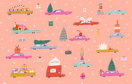 the skinny christmas wrapping paper illustration wrap design feminine christmas festive art