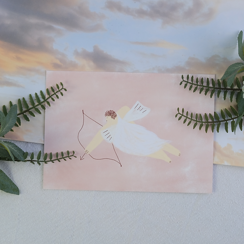A5 Pink Cupid Valentine's Print