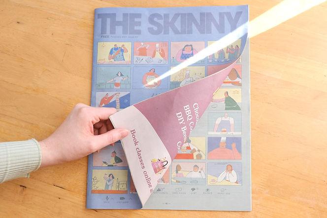 the skinny magazine scotland 2021 february sarah wilson swillistrations zoom meeting illustration sandwich party editorial illustrationg food