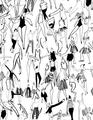 english national bellet illustration ink drawing people illustration pattern ballet pattern ballet drawing