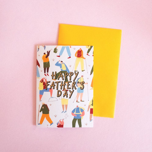 Hiking Father's Day Card