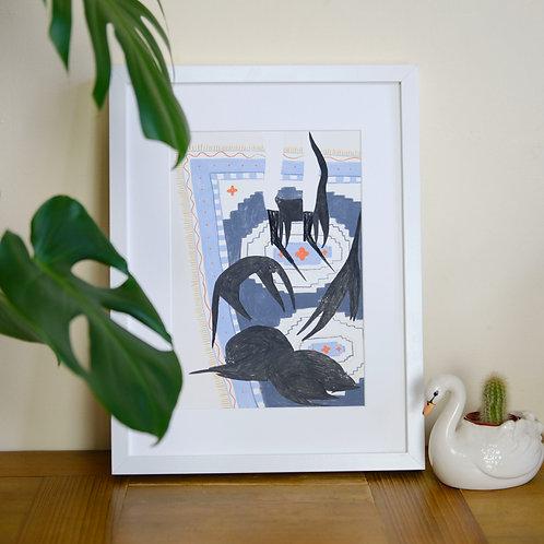 Feline Friends Print