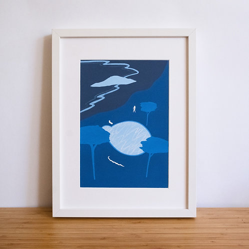 Blue Pool Print