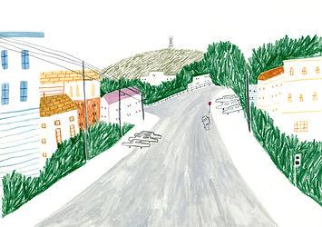 san fransisco illustration SF art reportage location drawing san francisco potreo hill russian hill haight ashbury art sketchbook feminine