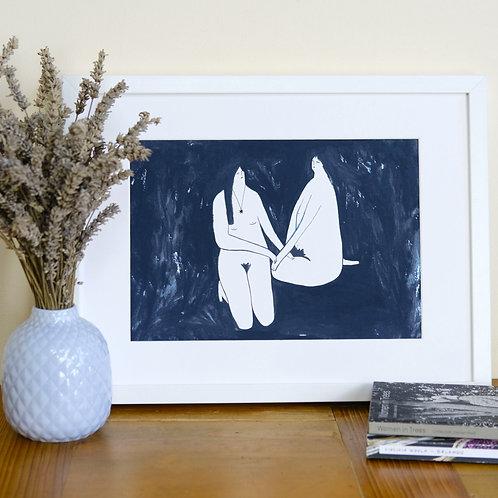 Blue Nude Print