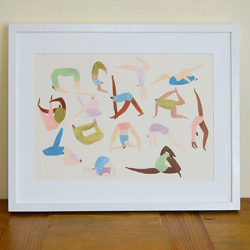 Yoga Ladies Print