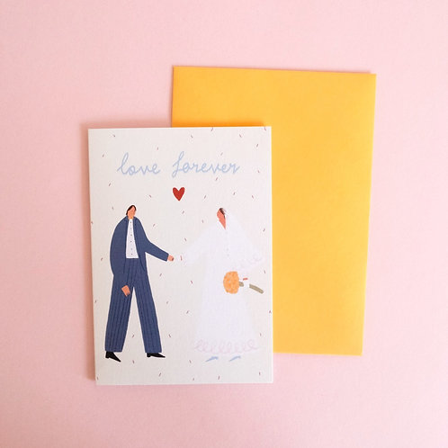 Love Forever Wedding Card