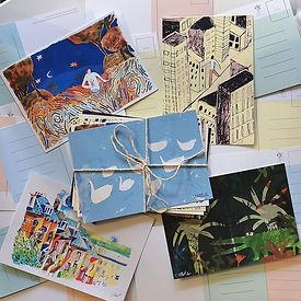 postcards nice people magazine illustration swan illustration drawing painting gouache holbein illustrator female illustrator