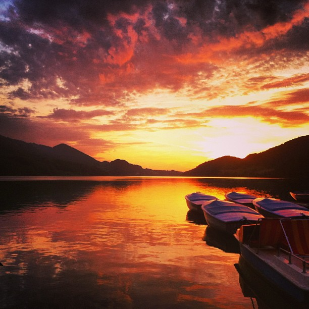Sunset at Fuschlsee! #epic #salzburg