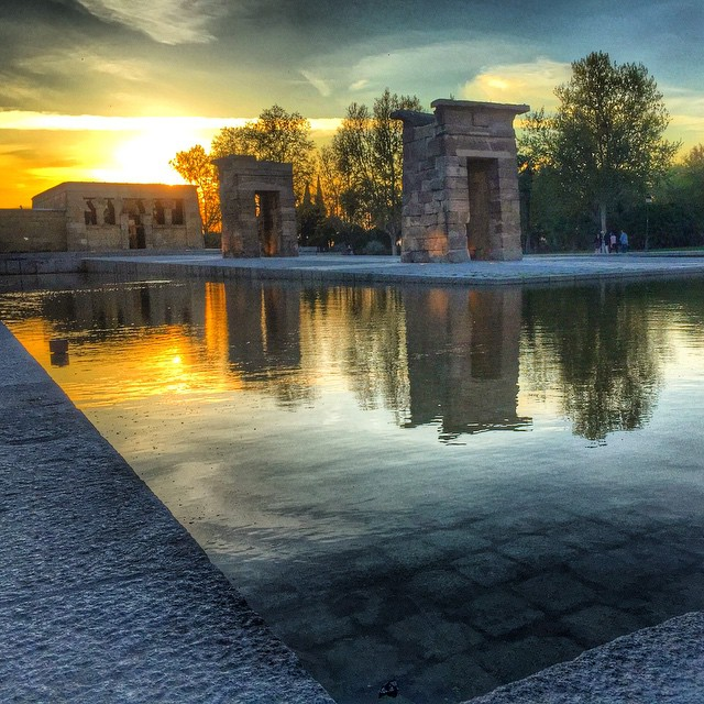 Debod! #Madrid #Spain #sunset _thegannp