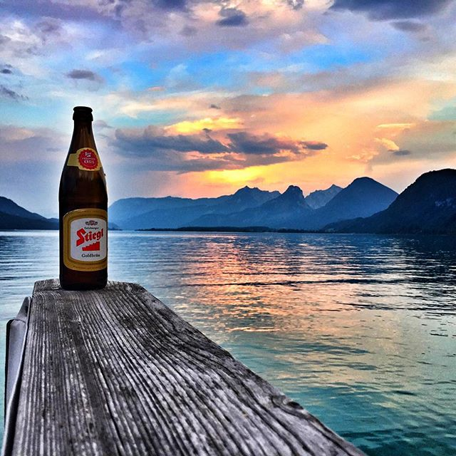 The calm before the storm! #salzburg #wolfgangsee #stiegl #casaskrein