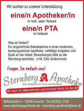 Sternberg Apotheke Stellenanzeige Sept.