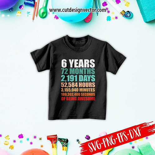 6th Awesome Birthday Countdown
